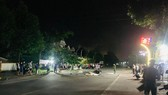 Khu vực hiện trường vụ tai nạn