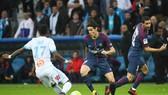 Không có Neymar, Edinson Cavani (giữa) sẽ dẫn dắt hàng công của Paris SG. Ảnh: Getty Images