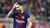 Messi đã hiểu cảm giác khó chịu như Ronaldo khi không ghi bàn 3 trận liên tiếp tại La Liga. Ảnh: Getty Images.