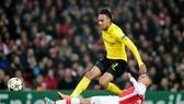 """HLV Arsene Wenger cũng từng """"mê mệt"""" khi Arsenal đối đầu Pierre-Emerick Aubameyang ở Champions League. Ảnh: Getty Images"""
