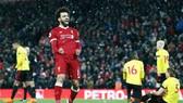 Mohamed Salah quất sụm mọi toan tính phòng ngự của Watford. Ảnh: Getty Images