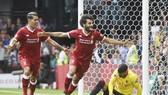 Roberto Firmino và đặc biệt Mohamed Salah (phải) đang là mối đe dọa lớn với Man.City. Ảnh: Getty Images