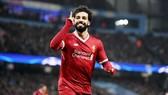 Mohamed Salah thật sự trở thành đối trọng của Cristiano Ronaldo và Lionel Messi. Ảnh: Getty Images