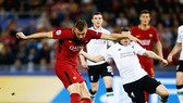 Roma (đỏ đen) thất bại, nhưng cũng khiến Liverpool phải sợ hãi. Ảnh: Getty Images