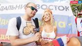 Nemchinova hứa cởi sạch nếu Nga vô địch. Ảnh CTABKA TV