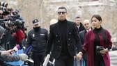 Cristiano Ronaldo đến tòa hôm thứ ba. Ảnh: AP