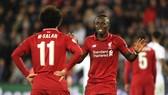Sadio Mane khẳng định có mối quan hệ tốt với Mohamed Salah. Ảnh: Getty Images