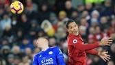 Virgil van Dijk (phải) được yêu cầu lưu tâm đền sự nguy hiểm từ số 9 của Leicester. Ảnh: Getty Images