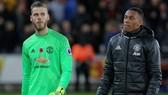 David de Gea đang tỏ rõ thất vọng về tình trạng của Man.United. Ảnh: Getty Images