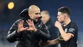 HLV Pep Guardiola đã thấy lại năng lực gây sức ép của đội. Ảnh: Getty Images