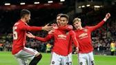 """Các cầu thủ trẻ Man.United đã có màn """"khóa đuôi"""" hoàn hảo. Ảnh: Getty Images"""