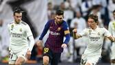 Lionel Messi đã bị các ngôi sao Real Madrid phong tỏa. Ảnh: Getty Images