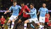 Derby Manchester sẽ diễn ra ở bán kết Cúp Liên đoàn. Ảnh: Getty Images