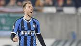 Christian Eriksen mừng bàn thắng đầu tiên cho Inter Milan. Ảnh: Getty Images