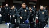 Đội Wuhan Zall lên đường trở lại Trung Quốc. Ảnh: AP