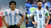 Diego Maradona và Lionel Messi là 2 cầu thủ vĩ đại nhất bóng đá Argentina.