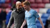 Kevin De Bruyne khẳng định rằng tương lai ở Man.City không phụ thuộc vào HLV Pep Guardiola. Ảnh: Getty Images