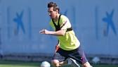Lionel Messi cho thấy anh thật sự nóng lòng trở lại sau dịch bệnh. Ảnh: Getty Images