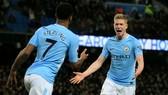 Kevin De Bruyne và Raheem Sterling ở Man.City là một trong những lý do khiến Pep Guardiola nhận lời đến với sân Etihad. Ảnh: Getty Images