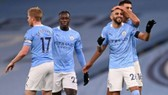 Riyad Mahrez đã ghi một hat-trick giúp Man.City vùi dập Burnley 5-0. Ảnh: Getty Images