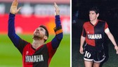 Lionel Messi đã dành tặng bàn thắng cho huyền thoại quá cố Diego Maradona.