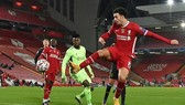 Liverpool thắng tối thiếu trước Ajax nhờ công của Curtis Jones. Ảnh: Getty Images