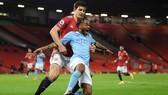 Trận derby Manchester đầu tiên của mùa giải đã kết thúc với tỷ số buồn tẻ. Ảnh: Getty Images