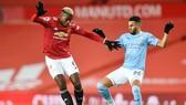 Paul Pogba trong trận hòa 0-0 với Man.City vào thứ bảy. Ảnh: Getty Images
