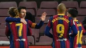 Lionel Messi đã cứu Barcelona khỏi một kết quả đáng xấu hổ khác. Ảnh: Getty Images