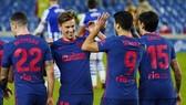 Atletico Madrid làm tròn chiến thắng thứ 300 dưới quyền HLV Diego Simeone.