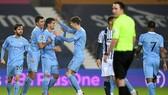 Man.City đã lên đỉnh Premier League lần đầu tiên trong mùa giải. Ảnh: Getty Images