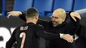 HLV Pep Guardiola phấn khích về mạch kết quả ấn tượng. Ảnh: Getty Images