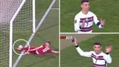 Cristiano Ronaldo bị từ chối một bàn thắng quý giá.