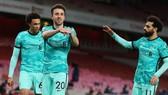Tiền đạo Diogo Jota sắm vai người hùng với 2 bàn sau khi vào sân. Ảnh: Getty Images