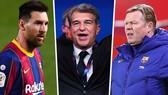Chủ tịch Joan Laporta quyết giữ chân Lionel Messi, nhưng tương lai HLV Ronald Koeman không chắc chắn.