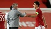 Harry Maguire chơi mọi phút cho Man.United trước khi chấn thương vào đầu tháng 5. Ảnh: Getty Images