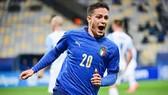 Giacomo Raspadori ghi 3 bàn sau 8 trận trong màu áo tuyển U21 Italy.