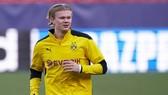 Erling Haaland trở lại sân tập của Borussia Dortmund vào thứ tư. Ảnh: Getty Images