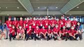 Hình ảnh những thành viên cuối cùng của Đoàn thể thao Việt Nam tại sân bay. Ảnh: T.S