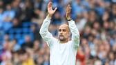 HLV Pep Guardiola khẳng định hài lòng với đội hình hiện tại. Ảnh: Getty Images