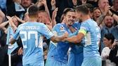 Jack Grealish đã cùng Man.City ra mắt ấn tượng ở Champions League. Ảnh: Getty Images