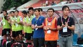 Ban huấn luyện Long An vẫn chưa tìm được trận thắng sau 12 lần xuất quân.          Ảnh: Minh Hoàng