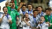 Niềm vui của U21 Đức sau khi đăng quang