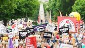 Người dân London biểu tình phản đối chính sách tiết kiệm của Chính phủ