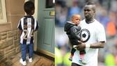 Con trai Tiote và chiếc áo số 24 của cha.