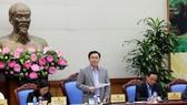 Phó Thủ tướng Vương Đình Huệ chủ trì hội nghị. Ảnh: VGP