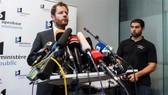 Người phát ngôn cơ quan công tố Brussels (Bỉ) Gilles Dejemeppe thông báo việc thả ông Puigdemont. Ảnh: AP