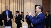 Chủ tịch nước Trần Đại Quang tiếp đoàn Liên minh Doanh nghiệp Hoa Kỳ, trong khuôn khổ các hoạt động của Tuần lễ Cấp cao APEC 2017. Ảnh: TTXVN