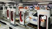 Trạm sạc xe điện của Tesla ở Thượng Hải