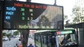 Bảng thông tin xe buýt trực tuyến                                      Ảnh: CAO THĂNG                              Bảng thông tin xe buýt trực tuyến                                      Ảnh: CAO TH